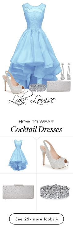 """Lake Louise"" by sordida on Polyvore featuring Lauren Lorraine, Badgley Mischka and Palm Beach Jewelry"