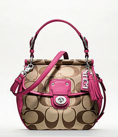 http://coachkristinelevated.webs.com Coach! This will definitely be my next one I buy!!!,COACH KRISTIN ELEVATED LEATHER SAGE ROUND SATCHEL