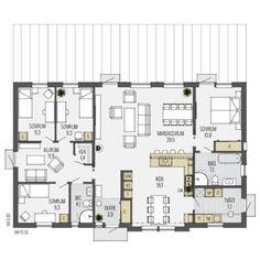 Simple House Plans, Sims 4 Houses, Feng Shui, Future House, Habitats, Villa, Floor Plans, Room Decor, How To Plan
