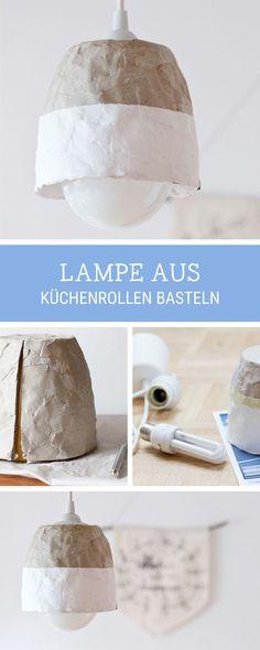 Upcycling-Idee für eine Küchenrolle: Wir zeigen Dir, wie Du aus einer Küchenrolle eine Lampe baust / upcycling inspiration for your home: how to craft a hanging lamp via DaWanda.com