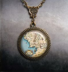 Middle Earth necklace, Middle Earth map jewelry, LOTR jewelry, Lord of the Rings Hobbit jewelry via Etsy