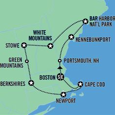 Road Trip Vacation - Best Of New England