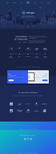We Craft Apps #WebDesign #Inspiration