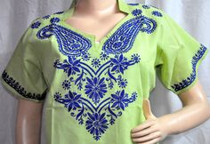 Embroidered  women's tunic shirt tshirt by KurtiTunicTopLucknow, $35.99