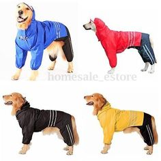Extra large giant 3pcs dog rain coat #trouser hat suit waterproof #clothes #jacke,  View more on the LINK: http://www.zeppy.io/product/gb/2/351620138166/
