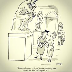 "#Rodin in #cartoon @ReneTheMovie: .H. Siggs - ""I know the type. All you'd ever get out of him would be 'We can't afford it' !"" #funny on Flickr.     René (The Movie) is a feature film by Homa Taj (IMDb) - René is a ménage à quatre bet Art (Auguste RODIN), Poetry (RILKE), Theater (SHAW) & Dance."