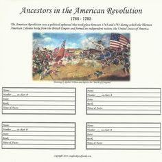 Our Roots - Revolutionary War Ancestors 1