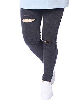 0b931a0ce1f39 Yacun Women s High Stretchy Skinny Tight Pant Fake Jean Leggings Plus Size