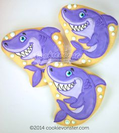 Shark cookies~                            by Cookie vonster, purple