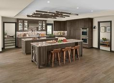 Luxe transitional kitchen in canon grey