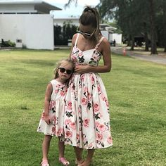 Family Look Women Matching Mother And Daughter Clothes Sleeveless Floral Dress For Mommy And Me Kids Girls Mom Daughter Dresses Mommy And Me Dresses, Mother Daughter Dresses Matching, Mother Daughter Fashion, Mommy And Me Outfits, Dresses Kids Girl, Mom Daughter, Mom Dress, Ideias Fashion, Clothes For Women