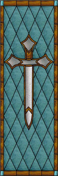 stained glass swords | Diamonds & Sword Faux Privacy Stained Glass Clings and Window Films
