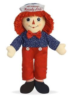 handmade hand embroidery 10 raggedy ann and andy multiple color options cute kawaii classic plush dolls