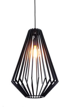 SVEN BLACK WOOD LARGE PENDANT - Modern Pendants - Pendant Lights - LIGHTING DIRECT LIMITED