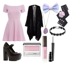 """""""Untitled #8"""" by domolover13 on Polyvore featuring AX Paris, Charlotte Russe, Sourpuss, Helix & Felix, Suzywan DELUXE, Laura Mercier, Clinique and MAC Cosmetics"""