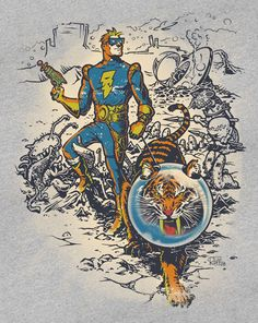 Calvin the Spiffy Spaceman T-Shirt Designed by captain ribman