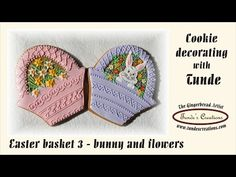 Easter basket cookies with bunny and flowers - Basket set 3 - YouTube