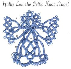 DIY: Diagram shown in photo; link to PDF pattern here: http://images.needledreams2.multiply.com/attachment/0/SdagngoKCtYAAFs57wo1/Celtic%2520knot%2520Angel.pdf?nmid=226393915