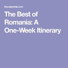 Uncover the very best of Romania in a wonderful one-week trip that will surely make you fall in love with this amazing country. Peles Castle, Visit Romania, Renaissance Architecture, One Week, Time Travel, Georgia, Most Beautiful, Good Things, Eastern Europe
