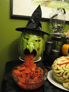 Fruit Salad Vomiting Melon Witch   The Ultimate Collection Of Creepy, Gross And Ghoulish Halloween Recipes