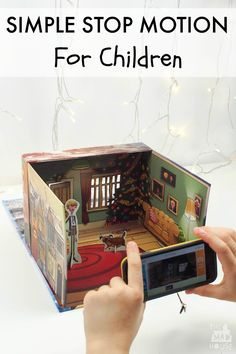 This could be good for video modeling. How to make a simple stop motion video with kids. Stop motion has great benefits for kids as it is so accessible and fun to make. Projects For Kids, Art Projects, Crafts For Kids, Arts And Crafts, Fun Crafts, Animation Image Par Image, Animation Stop Motion, Baby Kind, Child Plan