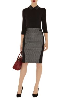 Texture jersey skirt | Luxury Women's xmlfeed | Karen Millen