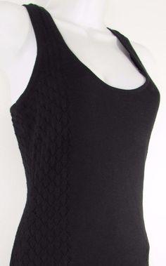 Guess Black Dress Lined Form Fitting Scoop Neckline Sleeveless 100% Cotton sz XS #GUESS #Sexy #LittleBlackDress