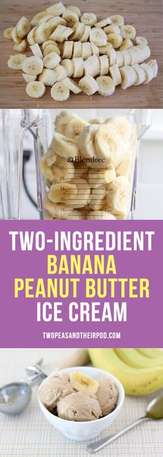 You only need TWO ingredients to make this amazing Banana Peanut Butter Ice cream! It is so easy and a great healthy dessert!