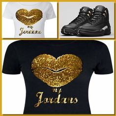848229d8d480 Details about LADIES   WOMENS TEE SHIRT to match the NIKE JORDAN XII 12  MASTERS! KISS MY J S