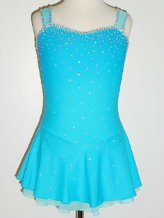 CUSTOM MADE TO FIT BEAUITIFUL  AND LOVELY ICE SKATING DRESS