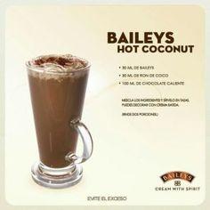 Licor Baileys, Baileys Drinks, Baileys Recipes, Bar Drinks, Coffee Drinks, Yummy Drinks, Alcoholic Drinks, Beverages, Café Chocolate
