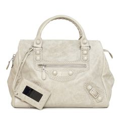 e364e308bbd2 Balenciaga Beige Lambskin Covered Midday Bag