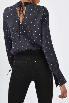 Polka Insert Blouse by Boutique