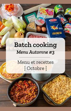 Batch cooking Automne – Mois d'Octobre – Semaine 41 Organic art Organic before and after Organic benefits Organic recipes Organic sign Healthy Meal Prep, Easy Healthy Recipes, Crockpot Recipes, Soup Recipes, Sauteed Zucchini Recipes, Chicken Lunch Recipes, Cure Diabetes Naturally, Eating Organic, Batch Cooking