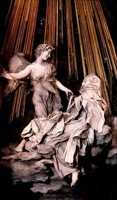 Bernini, The Ecstasy of Saint Teresa, 1745-52. This is the sculpture that sets the standard for all the rest. Bernini had the ability to make marble take on a fleshy, life-like quality which no one had thought possible. Within this work the deep creases and hyperbolic folds of the carmelite nuns habit show how Bernini had the ability to manipulate marble in whatever way he wanted.