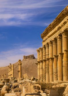 The site of Palmyra is an oasis in the Syrian desert, north-east of Damascus, it contains the monumental ruins of a great city that was one of the most important cultural centres of the ancient world, Palmyra mixed Graeco-Roman techniques with local traditions and Persian influences, it was listed UNESCO World Heritage in 1980 © Eric Lafforgue www.ericlafforgue.com