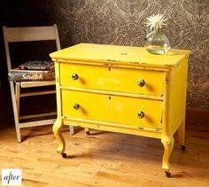 yellow night stand