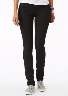 Jayden Mid-Rise Skinny Jeans in Black - Black - Jeans - dELiA*s