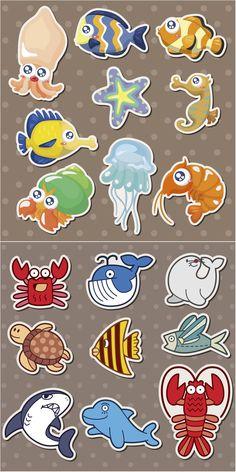 Sea Creatures Vector Free Download