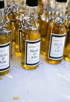 Mini Olive Oil and Vinegar favors!!!