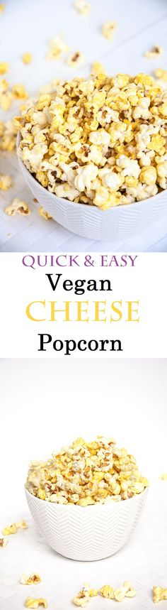 """Healthy Vegan """"Cheese"""" Popcorn  SWANK NOTE ~ Use a Swank approved oil, NOT coconut oil"""
