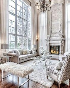 Living Room Interior, Home Living Room, Living Room Designs, Living Room Decor, Apartment Living, Luxury Living Rooms, Fancy Living Rooms, Classic Living Room, Elegant Living Room