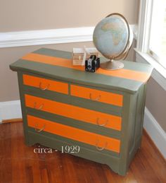 A painted dresser- Army themed
