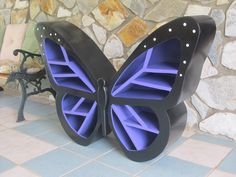 The Butterfly Shelf One of a kind piece by WoodCurve