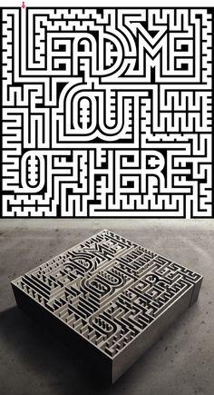 Labyrinth Maze: #Maze ~ Balla Dora Typo; photo by Erik Varusio.