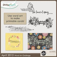 Word Art Challenge --- April 2015