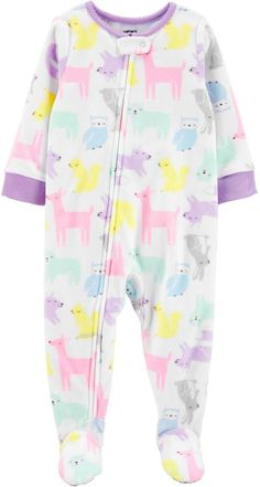 Carter's Girls Microfleece One Piece Pajama Long Sleeve – Baby For look here Baby Girl Pajamas, Carters Baby Girl, Kids Pajamas, Pjs, S Girls, Baby Girls, Baby Baby, One Piece Pajamas, Shopping