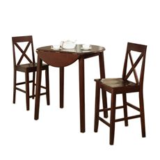 3-Piece Drop Leaf Pub Table Gathering Set. Good for small spaces!