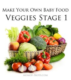 Make your own baby food with these recipes for stage 1 veggies.