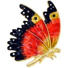 Orange Enamel Flying Butterfly Insect Pin Brooch Fantasyard. $16.59. Other color available. Exquisitely detailed designer style. Gift box available for an additional fee. Please check out through gift-wrap option. Save 35% Off!